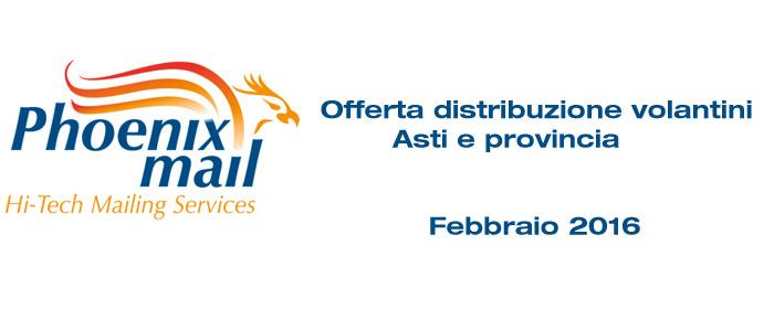 Distribuzione volantini Asti