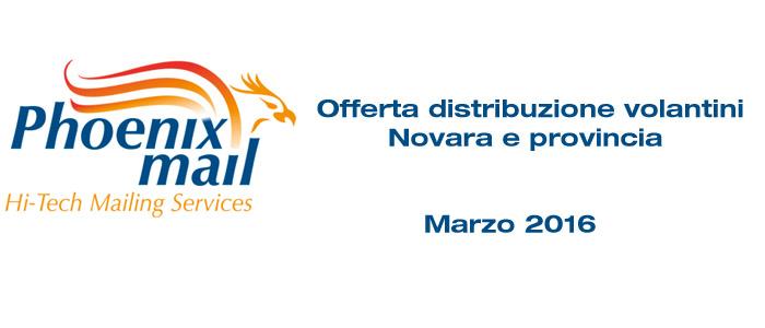 Distribuzione volantini Novara